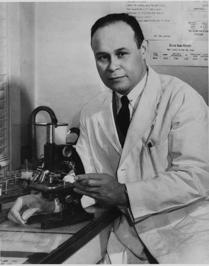 Charles R. Drew wearing a suit and tie